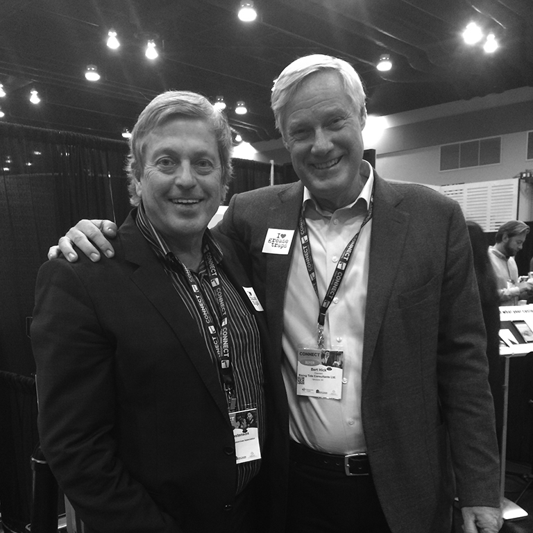 Bert and Ian Tostenson (President of BCRFA) at the annual International Wine Festival, in Vancouver